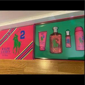 NIB Ralph Lauren Big Pony Pink #2 boxed set of 4